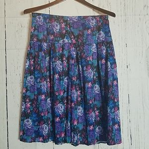 Blue and purple Floral skirt
